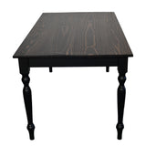 French Country side Farmhouse Table Harvest Table turned legs Farm table Rustic Table
