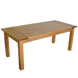 Golden Oak Harvest Table with Breadboard Ends