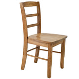 Golden Oak Ladder Back Farmhouse Chair