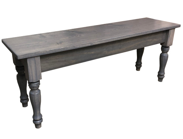 Driftwood Grey English Farmhouse Bench