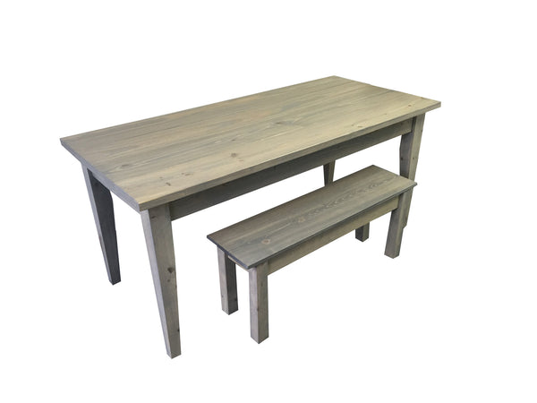 Grey Farmhouse Table with Tapered Legs Harvest Table, Farmhouse table Rustic Table
