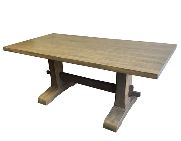 Rustic Trestle Farmhouse Harvest Table Ezekiel And Stearns