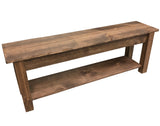 Lancaster Harvest Bench With Shelf