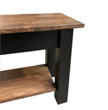 Laurent bench with shelf