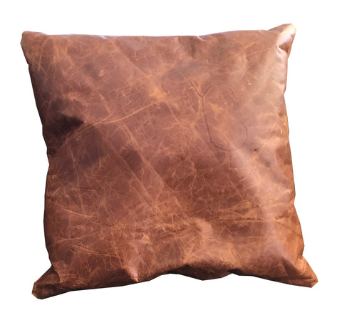 Full Grain Leather  Pillow