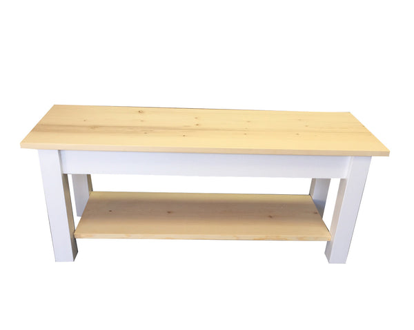 Nantucket Bench with Shelf