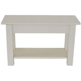 Off White Bench with Shelf