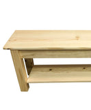 Pine Storage Bench with Shelf Entry way, shoe rack bench