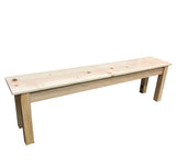 Natural Rustic Pine Wood Bench