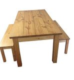 Ranch Farmhouse Table Harvest Table Rustic Bench-4