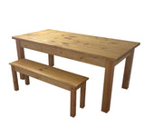 Ranch Farmhouse Table Harvest Table Rustic Bench-3