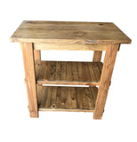 Rustic Golden Oak Kitchen Island