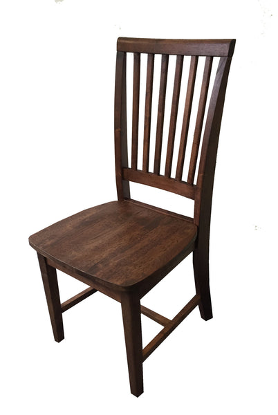 Rustic Red Mahogany Farmhouse Chair Farm Chair Seating-1