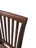 Rustic Red Mahogany Farmhouse Chair Farm Chair Seating-4