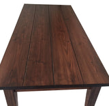 Red Mahogany Harvest Farmhouse Rustic Table