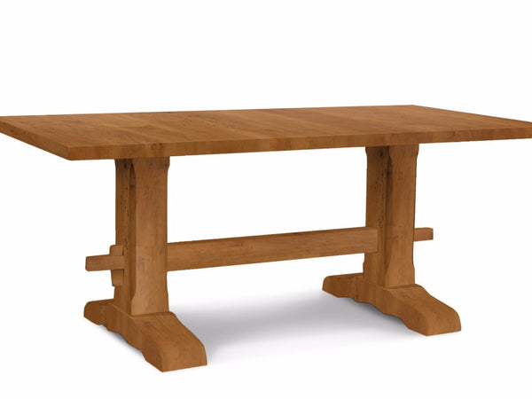 Light Walnut Trestle Table