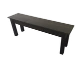 Rustic Black Tavern Bench Farmhouse Bench