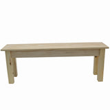 Unfinished Rustic Farmhouse Bench-3