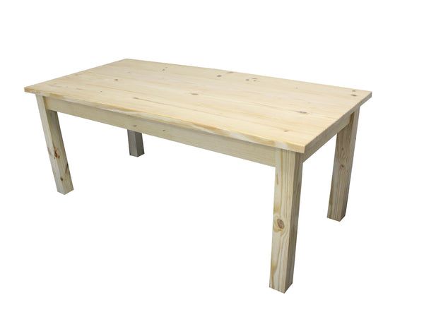 Unfinished Rustic Farmhouse Harvest Table