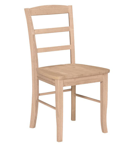 Unfinished Ladder Back Chair; Unfinished Ladder Back Chair ...
