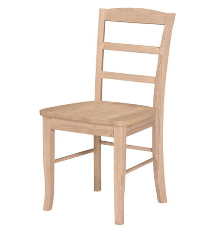 Unfinished Ladder Back Chair
