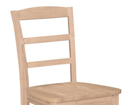 ... Unfinished Ladder Back Chair