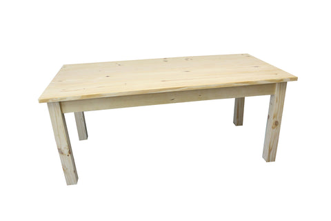 Delicieux Unfinished Rustic Farmhouse Harvest Table; Unfinished Rustic Farmhouse Harvest  Table ...