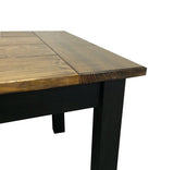Dark Walnut and Black Farmhouse Table