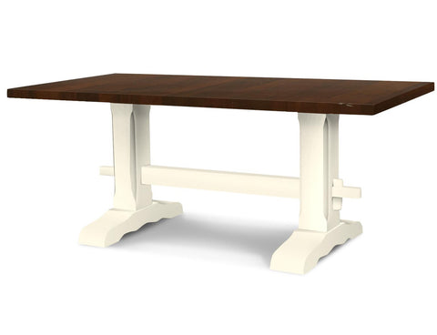 Colonial Harvest Walnut-White-Trestle Table