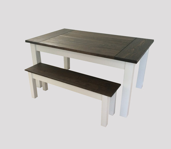 Rustic Colonial Harvest Farmhouse Table Farm Table-1
