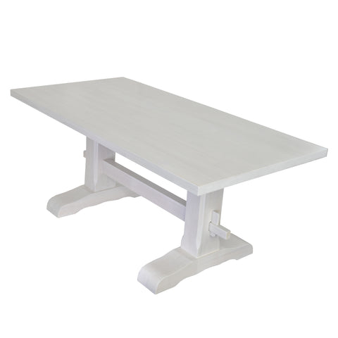 Pure White Trestle Table