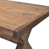 X-Base Trestle Farmhouse Dining Table Rustic