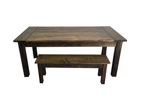 Rustic Yukon Cabin Farm Table Farmhouse Tables