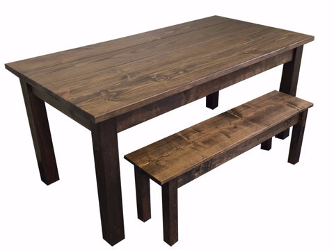 Rustic Farmhouse Table Farm Table Harvest Table hand crafted in St. Louis 10