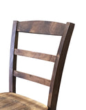 Dark Walnut Ladder Back Chair