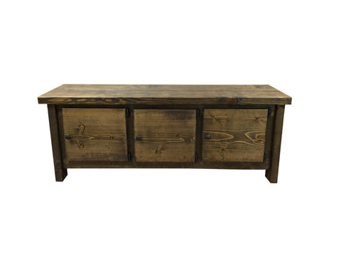 Rustic Storage Bench-1