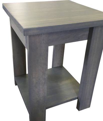 Driftwood Grey Side Table With Shelf