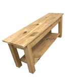 Ranch Golden Oak Bench with Shelf