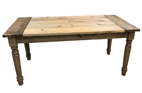 Light Walnut English Farmhouse Table