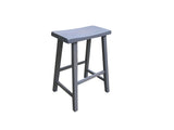 Gray Saddle Seat Stool