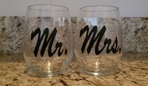 Personalized Stemless Glass (2 pc set)