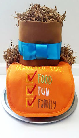 Holiday Harvest Diaper Cake