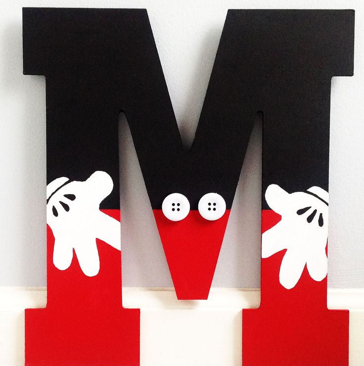 Mickey Mouse Inspired Letter