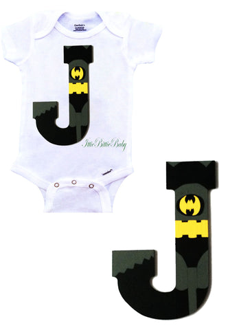 Batman Inspired Onesie Gift Set