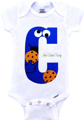 Cookie Monster Inspired Onesie