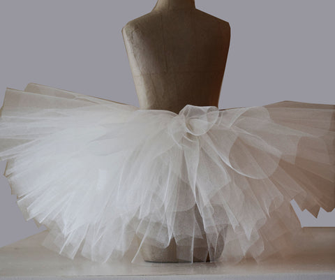 Cream Sparkle Tutu Skirt