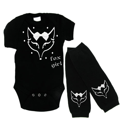 Fox Girl Onesie and Warmer Set