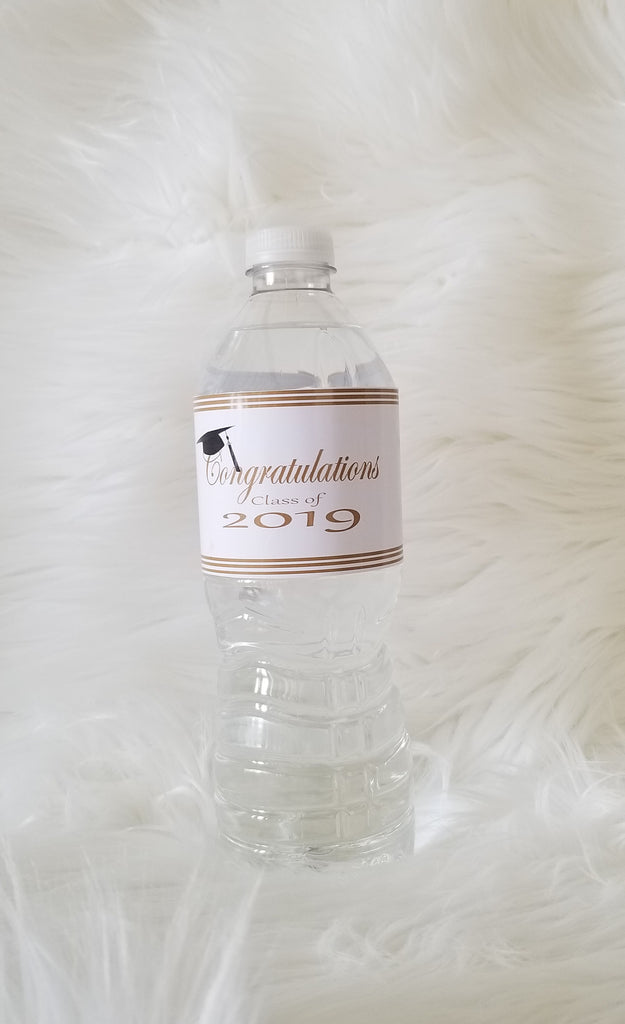 Grad Water Bottle Label