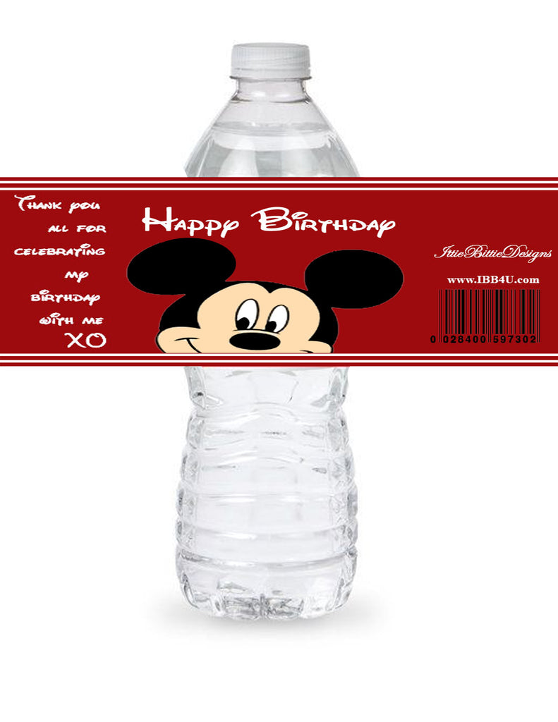 Birthday Custom Water Bottle Label