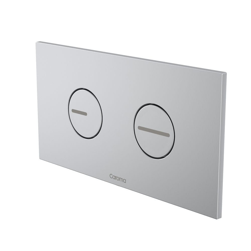 Caroma Invisi Series II Round ABS Dual Flush Plate | Satin